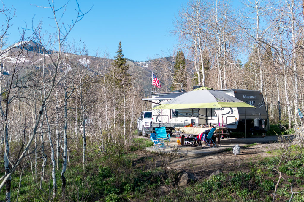 Our Site at Payson Lakes Campground